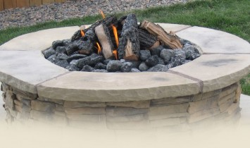 5280 built fire pit in Castle Rock