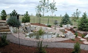 Rock garden and walkway